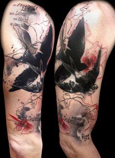 tattooed by Buena Vista Tattoo - Würzburg - Germany // Gedanken sind frei // trash polka tattoo