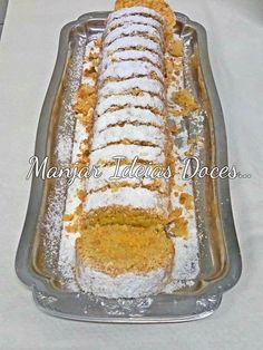 Portuguese Desserts, Portuguese Recipes, Biscuits, Chocolate, Banana Bread, Cake Recipes, Bakery, Deserts, Food And Drink