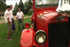 (KTTC) -- Dozens were gathered Monday night in St. Charles City Park to admire a piece of history dating back to 1928 that was found in a rather unconventional way. Charles City, Fire Department, Park City, Fire Trucks, Antique, History, News, Antiques, Fire Truck