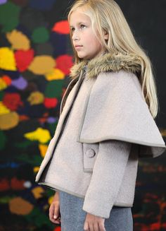 a big girl coat for L  wool cape coat