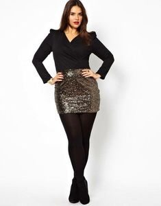 Yesss! Plus Size Sequin Skirt | H&M US | Plus Size Fashion ...