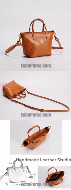 HANDMADE FULL GRAIN LEATHER SATCHEL BAG, CHIC STYLE SHOULDER BAG YC9006