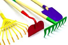 Make your lawn or garden neat and tidy by mounting this Big Kids Garden Tool Set from G & F. Includes a leaf rake, shovel, garden rake and hoe. Garden Tool Storage, Garden Tool Set, Home Vegetable Garden, Home And Garden, Best Garden Tools, Garden Rake, Garden Planner, Gardening For Beginners, Gardening Tools