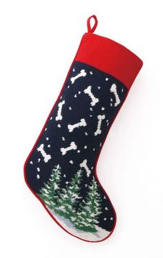 A Love Of Dogs - Bones Needlepoint Christmas Stocking – For the Love Of Dogs - Shopping for a Cause