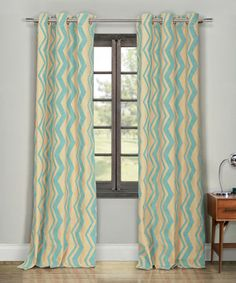 Love this Mint Forsythe Faux Linen Curtain Panel - Set of Two by Duck River Textile on #zulily! #zulilyfinds