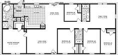 The TNR-4686W - Manufactured Home Floor Plan | Jacobsen Homes