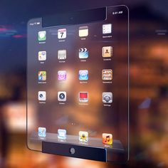 Transparent iPad, saw it and thought it looked so cool, like you get in sci-fi films.