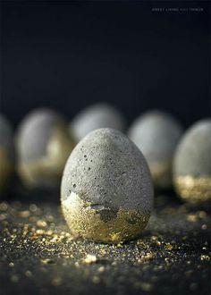 Golden Stone Egg.. Happy Easter!