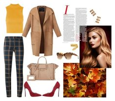 """Untitled #194"" by raphaelaelena ❤ liked on Polyvore featuring Burberry, BaubleBar, Topshop, Incotex, Gucci, Casadei, Balenciaga and Cartier"