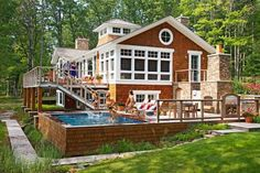 I love this above ground pool. Usually they are not my fave. House Tour: Ship Shape | Midwest Living