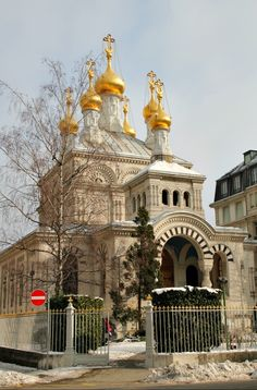 Built on the plan of a Greek cross, the Russian Orthodox Church is located in Les Tranchees near Geneva's Old Town -- See more at: http://chambersarchitects.com/blog.html?start=42