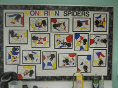 33 Ideas mondrian art for kids grades Character Design Disney, Creative Arts Studio, First Grade Art, Second Grade, Spider Art, Spider Webs, Mondrian Art, Star Wars Concept Art, Kindergarten Art