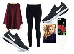 """""""Maroon/Nike"""" by ambyclark on Polyvore featuring NIKE"""