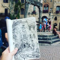 Medieval village (at San Gimingano Italy). ahhh I love this, Claire Keane you are amazing ugh