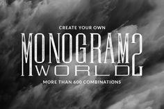 Monogram World 2 by Mcraft Shop on @creativemarket