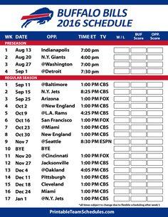 Buffalo Bills Football Schedule. Print Here - http://printableteamschedules.com/NFL/buffalobillsschedule.php