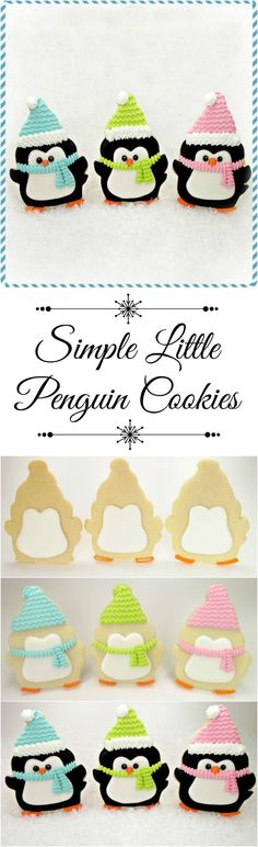 Simple Little Penguin Cookies | The Bearfoot Baker