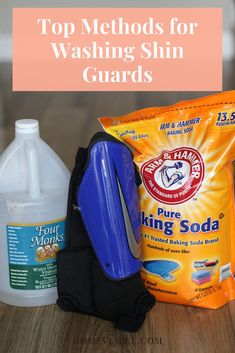 Soccer shin guards need regular cleaning, or else they will start to smell really bad. Learn how to wash shin guards with baking soda, vinegar, and your washing machine. #homeviable #soccer #shinguards #cleaning #washing Dish Detergent, Laundry Detergent, All Natural Cleaning Products, Best Cleaner, Soda Brands, Natural Detergent, Soccer Shin Guards, Laundry Hacks, Natural Cleaners