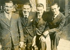 Sidney Arodin (far left) with (l to r) Wingy Mannone, George Brunies,  and Bobby Laine, circa 1930.  http://jazzagemusic.blogspot.com/b/post-preview?token=1Qo2XjYBAAA.J367WSMrkDopRBHKtjPgGQ.anwsT89plqIUH5jWv4pQgA=5378545874467399547=POST