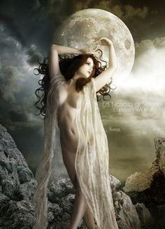 "Moon:  ""#Selene -The #Moon #Goddess,"" by LorelainW, at deviantART."