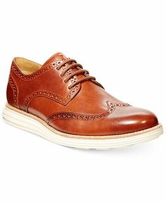 Cole Haan Lunar Grand Wing-Tip Oxfords