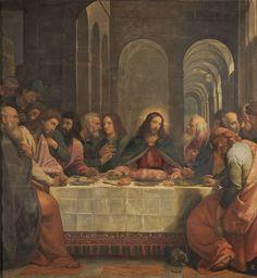 La Última Cena. 1605. Bartolomé Carducho Óleo sobre lienzo. Medidas: 256 cm x 248 cm. Museo del Prado. Madrid España. Volvemos e...