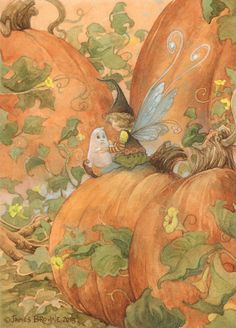 Little Boo Ghost and Fairy Signed 8.5x11 Print by brownieman, $11.50