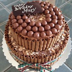 chocolate cake & candies