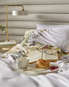 BREAKFAST IN BED: Add the finishing touch to the bedroom of your dreams with the Gem Gardens duvet cover.