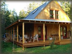 """Owner-Built House, Cabin and Barn Kits from Shelter-Kit®. """"How long will it take to assemble? Our kits can be assembled by two people in about 3 to 15 days, depending on the kit. No cranes, lifts or power tools are typically required."""""""