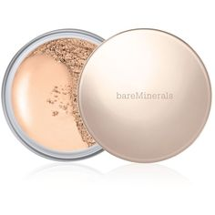 bareMinerals Deluxe Original Foundation Collector's Edition, 0.6 oz ($43) ❤ liked on Polyvore featuring beauty products, makeup, face makeup, foundation, fair, bare escentuals and bare escentuals foundation