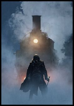 Watch out Jacob Frye ! ;-) I did this Photoshop, benchmark illustration for AC Syndicate, copyright @Ubisoft .