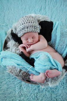 RTS Newborn Baby Boy Newsboy Photography Prop by AllBabyBoutique