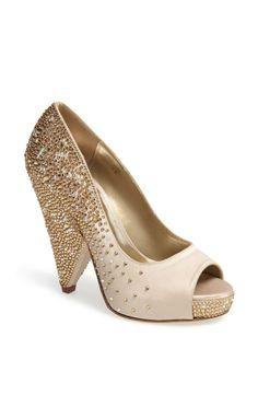 This pump is stunning! Crystal Embellished Pump