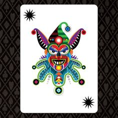 """Card Graphics & Box Design for """"Shuffle"""" set of casino quality playing cards (2008)."""