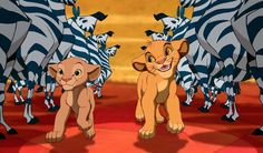 How much Simba just can't wait to be king Also, how cool would it be to be running through zebras? Simba Et Nala, Lion King Timon, Lion King Movie, Disney Lion King, Disney Songs, Disney Films, Disney Pixar, Disney Characters, Bambi