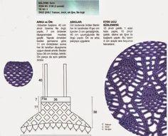 Crochet y dos agujas: Hermosa y original solera al crochet