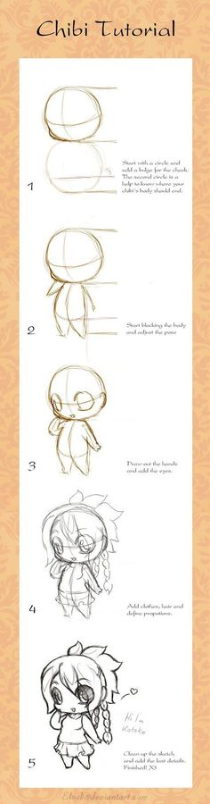 Chibi Tutorial More Artworks And Tutorials: https://www.facebook.com/lapukacom  This artwork does not belong to me! I post it because I find if fascinating. Some of my original art can be found at http://lapuka.com