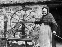 The Muckle wheel in action. Scotland