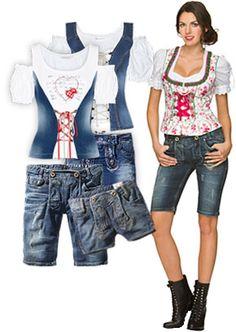 Jeans-Tracht und Dirndl