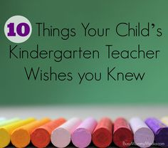 10 Things your Child