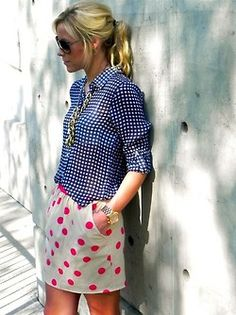 fab summer outfit - gingham and spots without looking twee... The Mannequin