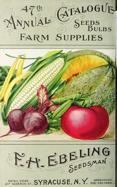 F.H. Ebeling - Seeds, hardware, machinery, implements, wagons, garden and field supplies : 1868-1916
