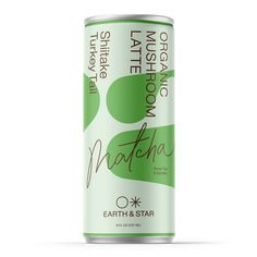 Organic Mushroom Coffee | Earth & Star Milk Packaging, Beverage Packaging, Packaging Design, Organic Energy Drinks, Healthy Soda, Plant Based Protein, Bottle Design, Natural Flavors, Stevia