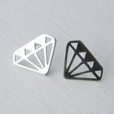 Diamond earrings - handmade by Simone Walsh