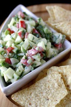 Crisp Cucumber Salsa // fresh, low carb, low calorie, delicious #appetizer #snack