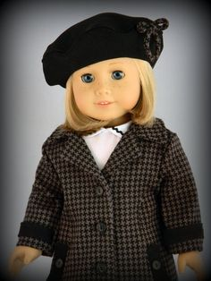 Winter coat and beret for 18 American Girl doll  by by BringingJoy, $38.50