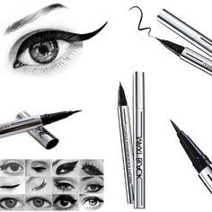 Max Black Eyeliner Pen - Waterproof Liquid Pencil Eye Liner - Make Up Comestic Black Eyeliner, Pencil Eyeliner, Black Liquid, Makeup Must Haves, Max Black, Winter Makeup, Eye Makeup, Beauty Hacks, Make Up