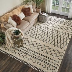 Mistana Jenny Cream Area Rug Rug Size: Rectangle x Rugs In Living Room, Living Room Decor, Bedroom Rugs, Bedrooms, Dining Room, Tapetes Diy, Chimney Decor, Area Rug Sets, Large Area Rugs