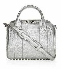 Alexander Wang Rockie Silver Stud Duffle Bag